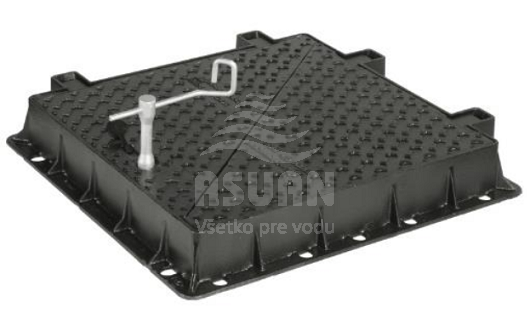 Poklop liatinový kvadratický D400 TI4S
