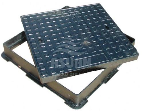 Poklop liatinový 600x600 D400